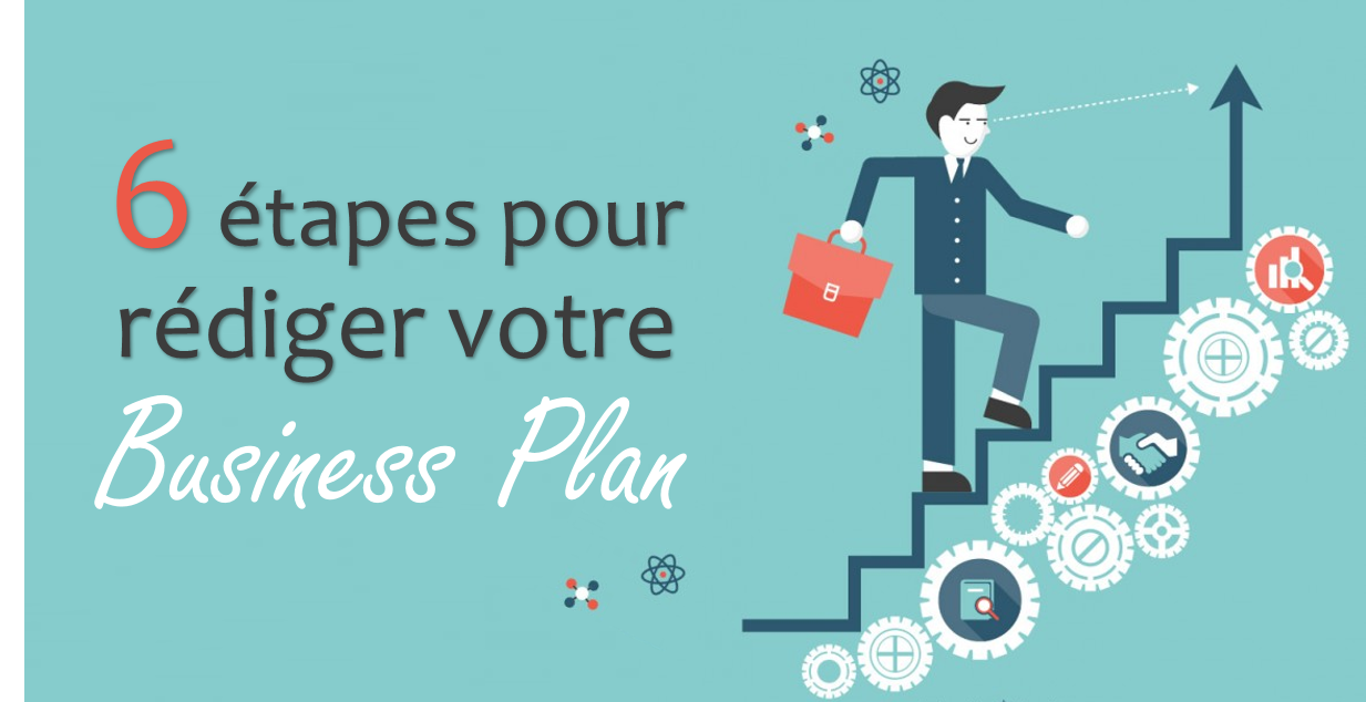 les 6  u00e9tapes pour r u00e9diger son business plan
