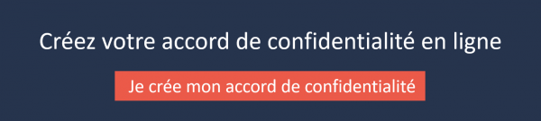 l'accord de confidentialité en ligne