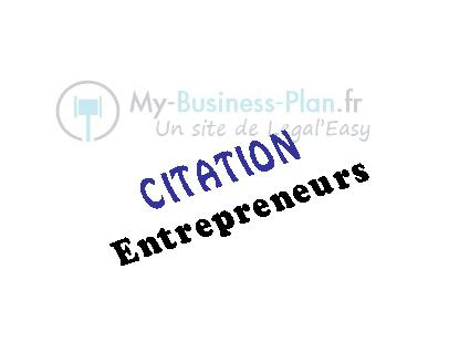 Citations entrepreneurs